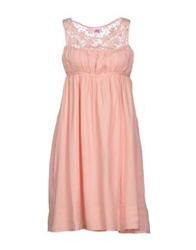 Scee By Twin Set Short Dresses Light Pink
