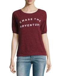 Signorelli Chase The Adventure Graphic Tee Maroon