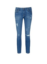 Current Elliott 'The Fling' Relaxed Fit Distressed Jeans Blue