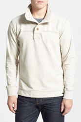 Jeremiah 'Taylor' French Terry Mock Neck Pullover White