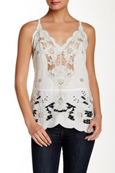Free People Listen To The Music Linen Blend Tunic White