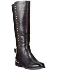 Wanted Pub Tall Shaft Studded Boots Women's Shoes Black