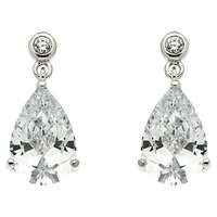 Finesse Cubic Zirconia Teardrop Earrings