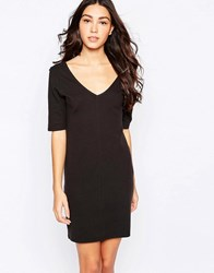 Jdy Deep V Shift Dress Black