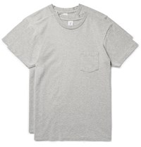 Velva Sheen Two Pack Cotton Blend Jersey T Shirts Gray