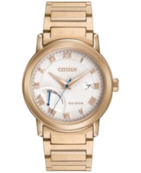 Citizen Men's Eco Drive Rose Gold Tone Stainless Steel Bracelet Watch 41Mm Aw7023 52A