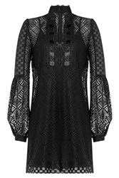 Anna Sui Crochet Lace Tunic Black