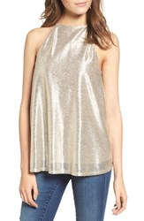 Leith Women's Metallic Halter Top