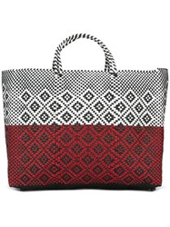 Truss Nyc Woven Tote Red