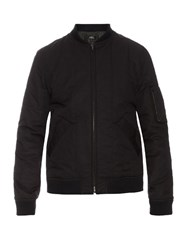A.P.C. Theo Cotton Blend Bomber Jacket Black