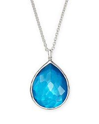 Ippolita Sterling Silver Wonderland Teardrop Pendant Necklace In Ice 16 Blue Silver