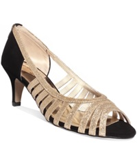 Easy Street Shoes Easy Street Sparkle Evening Sandals Women's Shoes Gold Glitter