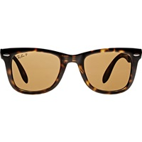 Folding Wayfarer Sunglasses Brown