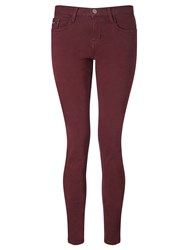 Calvin Klein Mid Rise Stretch Twill Skinny Jeans Tawny Port