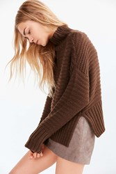 Silence And Noise Annie Turtleneck Sweater Brown
