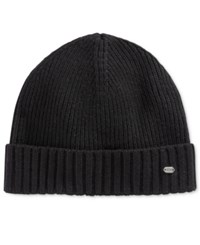 Hugo Boss Men's Cuffed Beanie Black