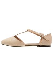 Warehouse Ballet Pumps Neutral Beige