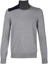 Viktor And Rolf Intarsia Roll Neck Sweater Grey