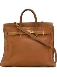 Herma S Vintage 'Haut A Courroies' Tote Brown