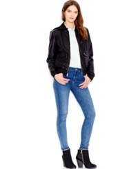 Levi's Hooded Faux Leather Bomber Jacket