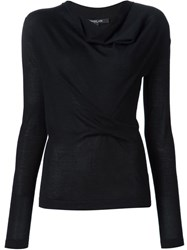 Derek Lam Cowl Neck Jumper Black