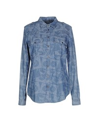M.Grifoni Denim Denim Denim Shirts Women Blue