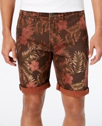 Guess Men's Caribbean Classic Chino Shorts Grizzly Bear Multi