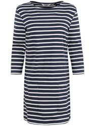 Seasalt Trezise Stripe Tunic Dress Breton Night Ecru