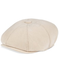 Sean John Hat Moleskin Newsboy Cap Tan