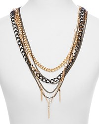 Juliet And Company Full Tassel Chain Statement Necklace Compare At 88 Gunmetal Gold