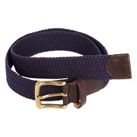 Barbour Webbing Leather Trim Belt Navy