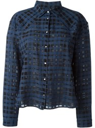 Mauro Grifoni Checked Shirt Blue