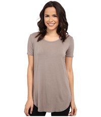Culture Phit Caydee Short Sleeve Modal Top Taupe Women's Clothing