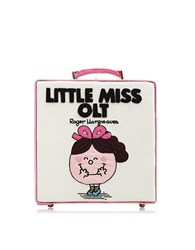 Olympia Le Tan 7 Inch Little Miss Olt Cream Cotton And Leather Handbag