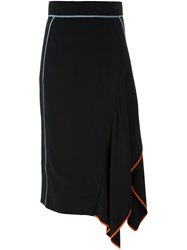 Peter Pilotto Asymmetrical Midi Skirt Black