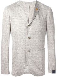 Lardini Single Breasted Blazer Nude And Neutrals