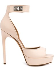 Givenchy 'Shark Lock' Sandals Pink And Purple