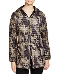 Duvetica Scheria Erre Long Lightweight Down Coat Camouflage Militare