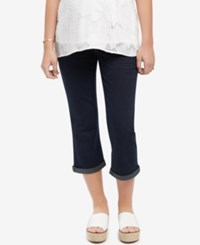 Motherhood Maternity Maternity Dark Wash Cropped Jeans