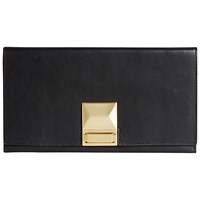 Jaeger Faceted Lock Clutch Bag Black
