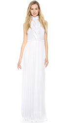 Lisa Perry Sleeveless Gown White