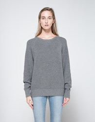 Callahan Boyfriend Sweater In Grey Heather Grey