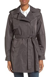 Kristen Blake Women's Water Repellent Trench Coat Metallic