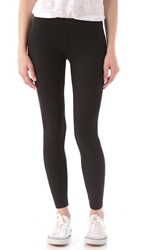 James Perse Brushed Jersey Leggings Black