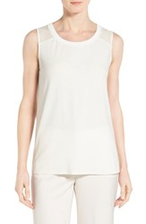Women's Classiques Entier Sleeveless Mixed Media Top