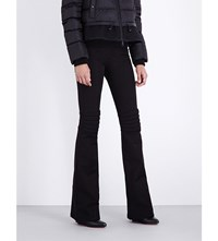 Moncler Flared Stretch Twill Ski Trousers Black