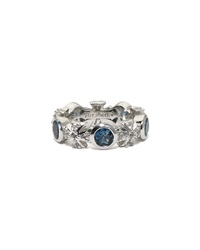 Elizabeth Showers London Blue Topaz Maltese Eternity Ring Size 10