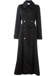 Jean Paul Gaultier Vintage Double Breasted Trench Coat Black