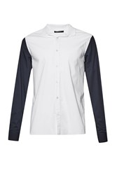 French Connection Racer Stripe Brosnan Shirt White