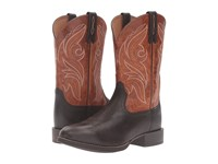 Ariat Heritage Cowpuncher Iron Coffee Two Tone Tan Cowboy Boots Brown